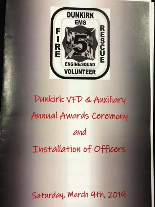 Dunkirk VFD Annual Awards Ceremony