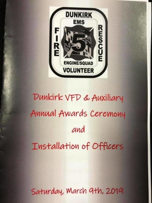 Dunkirk VFD Annual Awards Ceremony