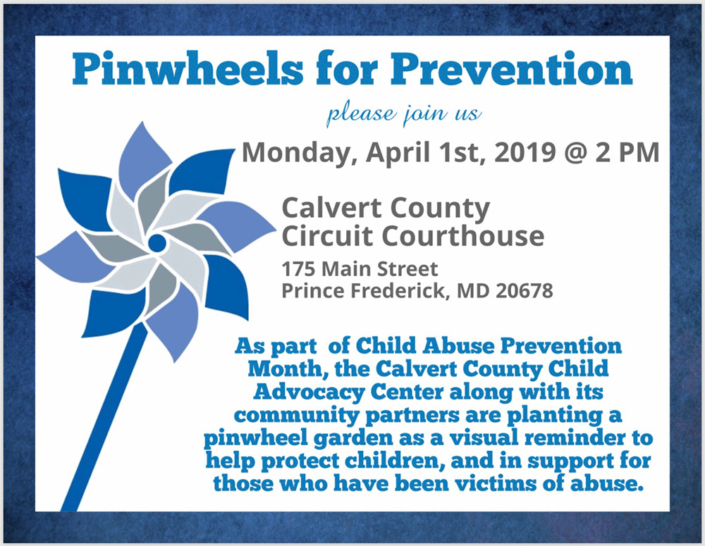Pinwheels for Prevention (Child Abuse Awareness/Prevention Month)